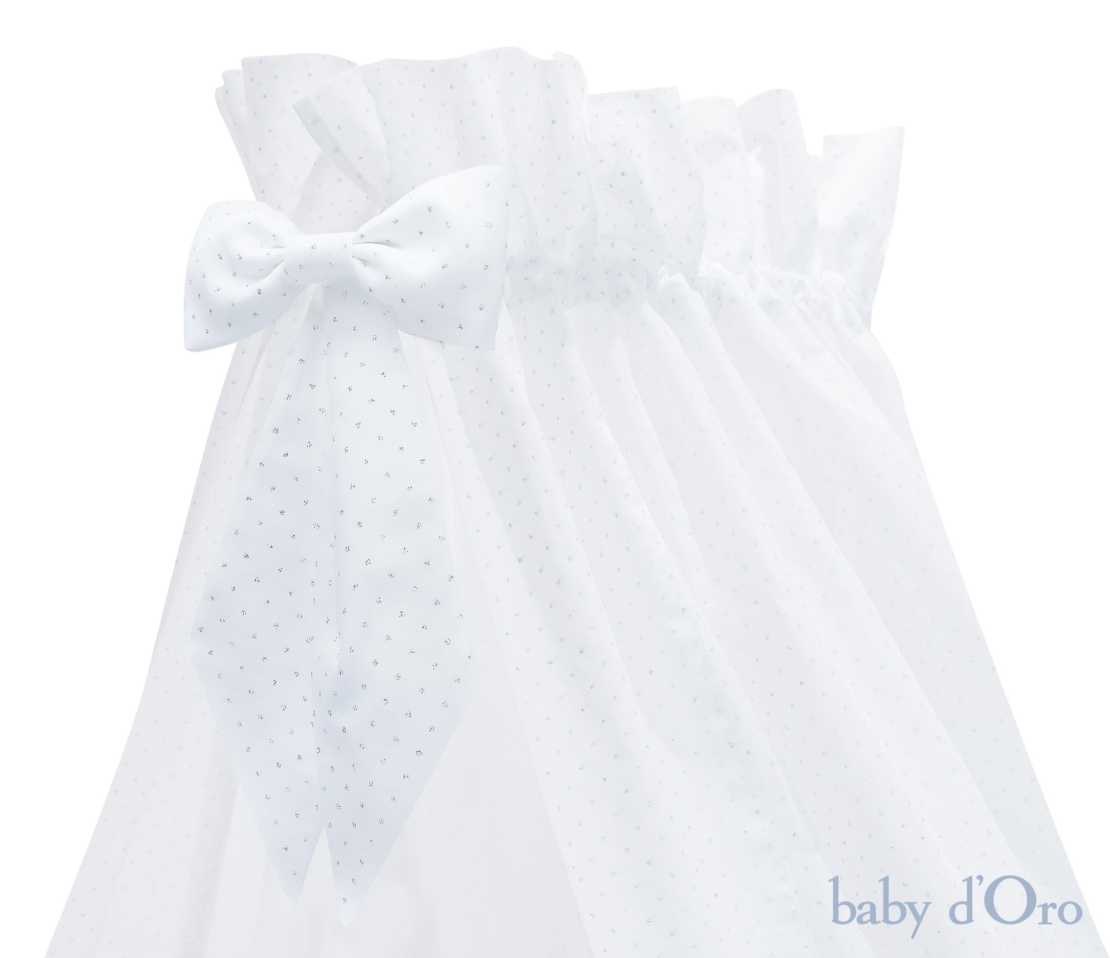 Silver Bright standing canopy with bow