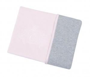 Blanket double sided – pink with grey