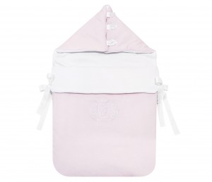 Hooded sleeping bag Misty Jersey light pink