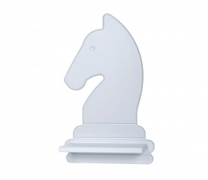 Chess Knight – grey shelf