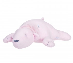 Pink decorative polar bear - pillow