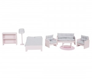 Dollhouse furniture - pink