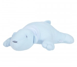 Blue decorative polar bear - pillow