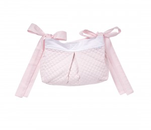 Quilted pink crib bag