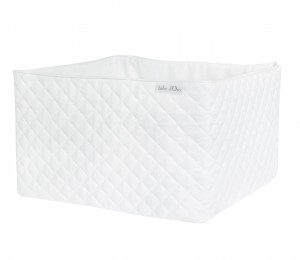 Quilted white care basket