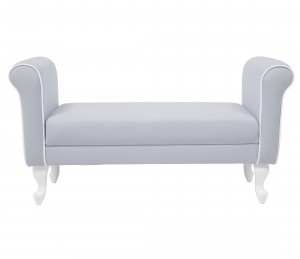 Upholstered bench - light grey