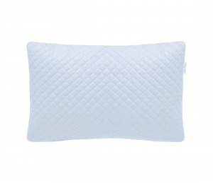 Quilted blue pillow