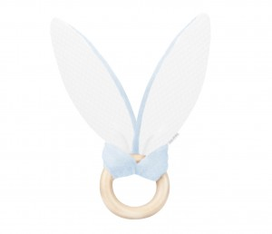 Bunny teether - velvet blue