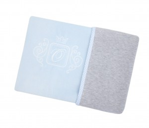 Blanket double sided – blue with grey