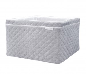 Quilted grey care basket