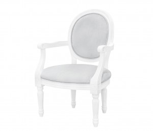 French velvet grey armchair