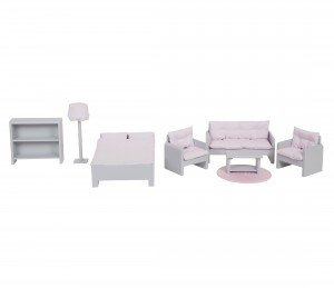 Dollhouse furniture - grey