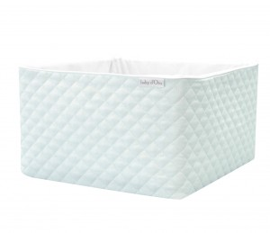 Quilted mint care basket