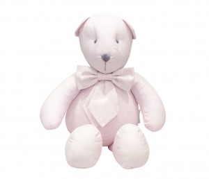Decorative teddy bear - pink tiny checkered