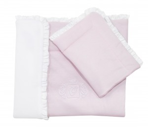 Newborn bedding with filling - Misty Jersey light pink