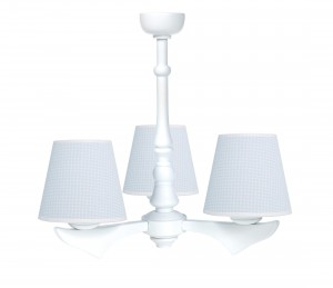 Three - armed chandelier - Cheverny Blue