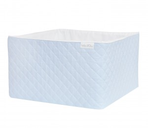 Quilted blue care basket