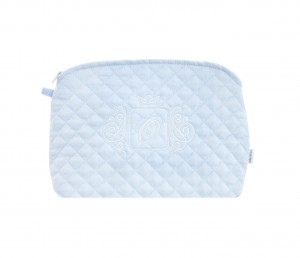 Quilted blue beauty case
