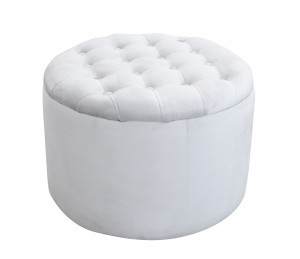 Quilted grey pouf