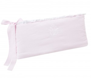 Cot bed bumper - Frenchy Pink