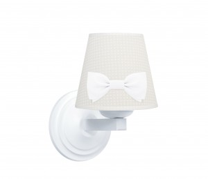 Round sconce - Cheverny Beige with bow