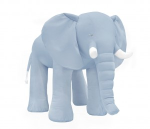 Decorative elephant- velvet blue