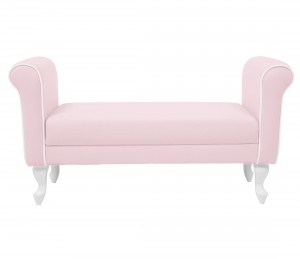 Upholstered bench - pink