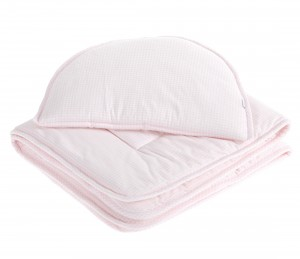 Newborn bedding with filling – Vichy Pink
