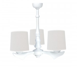 Three - armed chandelier - Frenchy Beige
