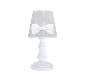 La Petit lamp - Cheverny Grey with bow