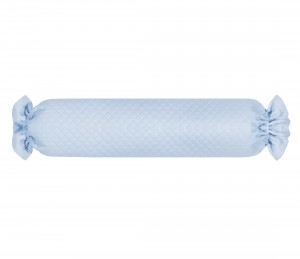 Blue quilted baby bolster