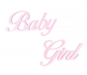 "Hanging lettering ""Baby Girl"""