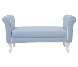 Upholstered bench - blue