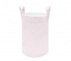 Pink quilted toy bag
