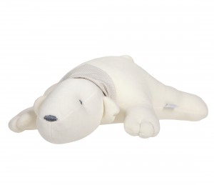 Beige decorative polar bear - pillow