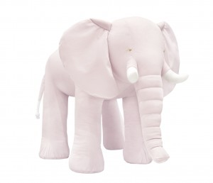 Decorative elephant- velvet pink