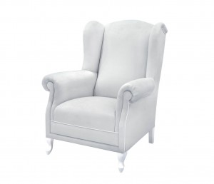 Feeding armchair- grey velvet