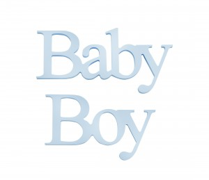 "Hanging simple ""Baby Boy"" lettering"