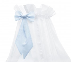 White standing canopy with Moon Love bow