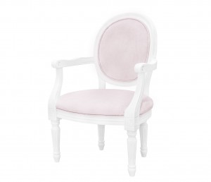 French velvet pink armchair