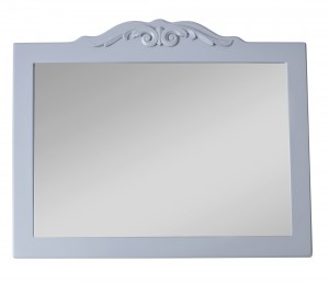 Grey mirror with decorative frame