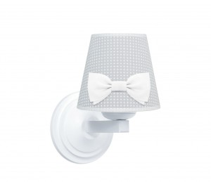 Round sconce - Cheverny Grey with bow
