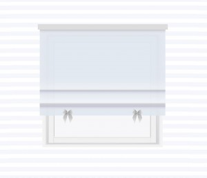 Roman blind with bows - for individual order