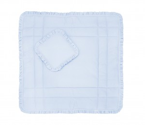 Play mat blue with pillow