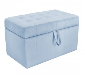 Quilted trunk- blue velvet
