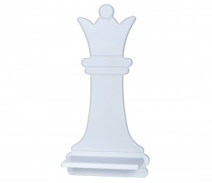 Chess Queen – grey shelf