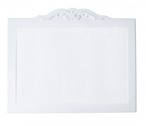 White board with white decorative frame