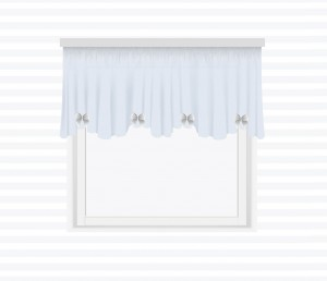 Valance with waves and bows wrinkled on the tape - for individual order