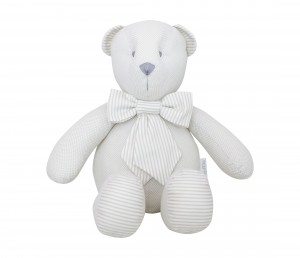Decorative teddy bear - beige tiny checkered