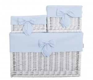 White wicker basket – big – Frenchy Blue